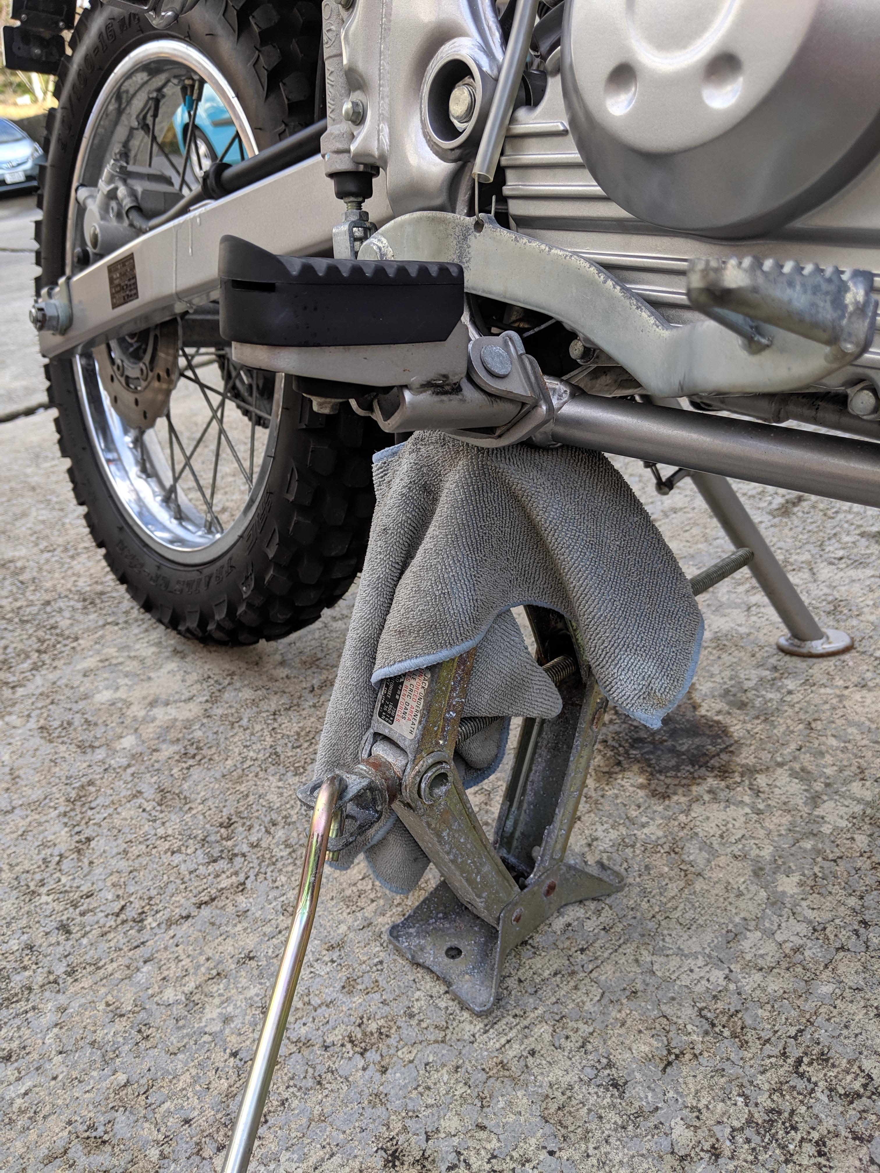 バイク 台風 対策